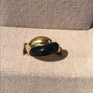 Avon gold and black classic contour ring